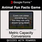 Metric Capacity Conversions | Animal Fun Facts Game | Goog