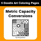 Metric Capacity Conversions - Coloring Pages | Doodle Art Math