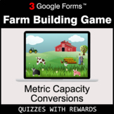 Metric Capacity Conversions | Farm Building Game | Google Forms