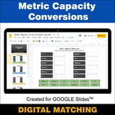Metric Capacity Conversions - Google Slides - Distance Lea