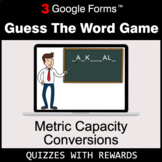 Metric Capacity Conversions | Guess The Word Game | Google Forms