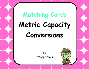 Metric Capacity Conversions - Matching Cards