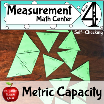 Metric Capacity Conversions Math Center Activity