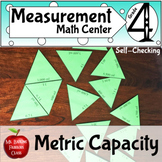 Metric Capacity Conversions Self Checking Math Center Activity