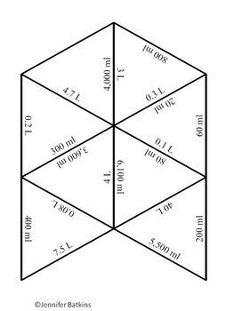 Metric Capacity Conversions Self Checking Math Center Activity