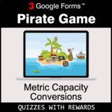 Metric Capacity Conversions | Pirate Game | Google Forms |