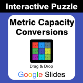 Metric Capacity Conversions - Puzzles with GOOGLE Slides