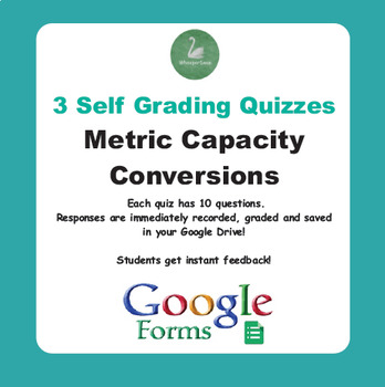 Metric Capacity Conversions - Quiz with Google Forms