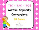 Metric Capacity Conversions Tic-Tac-Toe