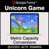 Metric Capacity Conversions | Unicorn Game | Google Forms