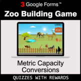 Metric Capacity Conversions | Zoo Building Game | Google Forms