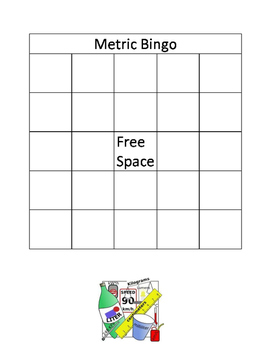 Metric Conversion Bingo