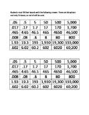 Metric Conversion Bingo