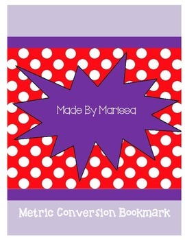 Metric Conversion Bookmark
