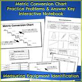 Metric Conversion Chart, Sorting Measuring Equipment, Interactive Notebook