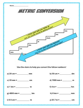 Grade 4 math worksheet - Measurement: convert metric lenghts | K5 ...