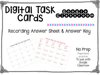 Metric Conversion Digital Task Cards