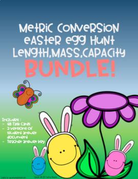 Metric Conversion Easter Egg Hunt Bundle