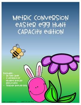 Metric Conversion Easter Egg Hunt - Capacity