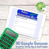Metric Conversion Google Form Quizzes- Exit Tickets