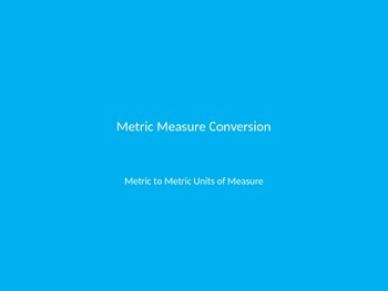 Metric Conversion Helper
