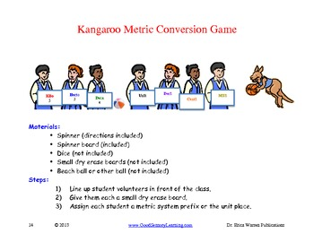 Metric Conversion: Kangaroo Hop Lessons, Activities and Games