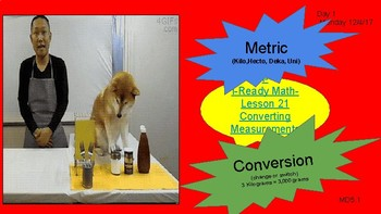 Metric Conversion MD5.1-Lesson Resource Pack