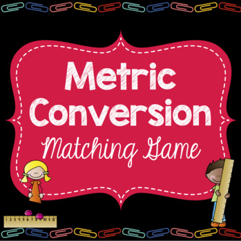 Metric Conversion Matching Game