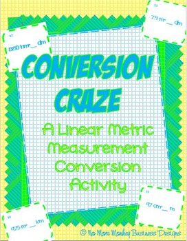 Metric Conversion Math Activity