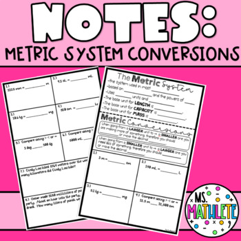 Metric System Conversion Notes