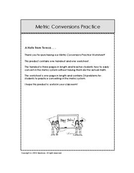 Metric Conversion Practice Worksheet