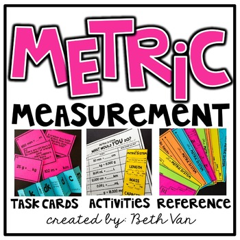 Metric Measurement Task Cards (Converting measurements within the metric system)