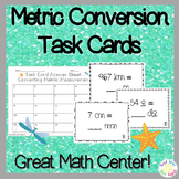 5th Grade Metric Conversion Task Cards
