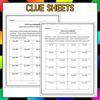 Converting Units of Measure Task Cards (I Have, Who Has)