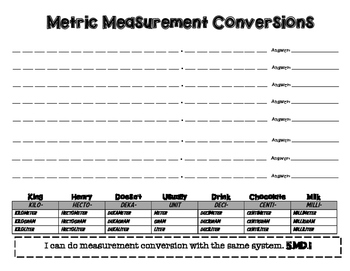 Metric Conversion Tool
