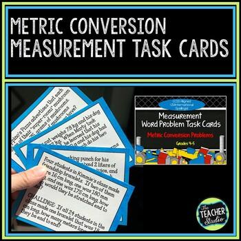Metric Conversion Word Problem Task Cards:  Grades 4-5