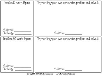 Metric Conversion Word Problem Task Cards:  Grades 4-5