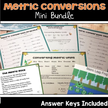 Metric Conversions Mini Bundle