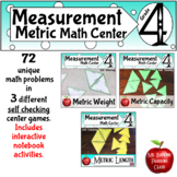 Metric System Measurement Conversion Bundle Self Checking Math Center Activities