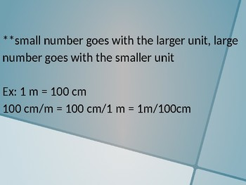 Metric Conversions Class Notes Powerpoint