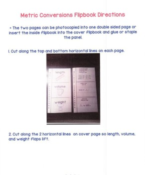 Metric Conversions Flipbook