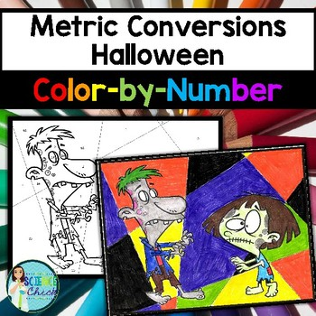 Metric Conversions Halloween Color-by-Number