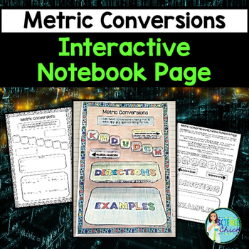 Metric Conversions Interactive Notebook Page