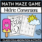 Metric Conversion Activities Customary Math Mazes 5th Grade
