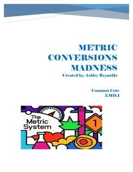 Metric Conversions Madness