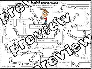Metric Conversions Maze