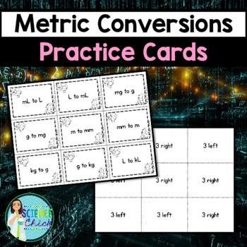 Metric Conversions Practice Cards