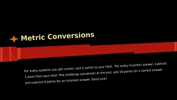 Metric Conversions Review Game