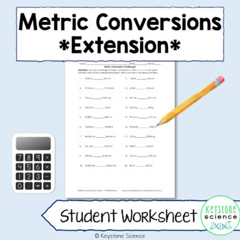 Metric Conversions Worksheet Teaching Resources Teachers Pay Teachers