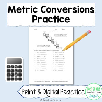 Metric Conversions Worksheet Practice With Answer Key By Keystone